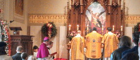 Bishop Bambera's visit on Epiphany.